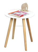 Newly Design MDF Top Wood Legs Wooden Mini Round Table