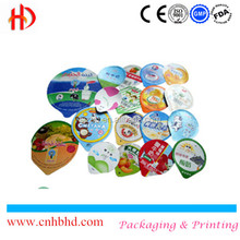 Heat seal die cut aluminum foil lid for yogurt cup China supplier