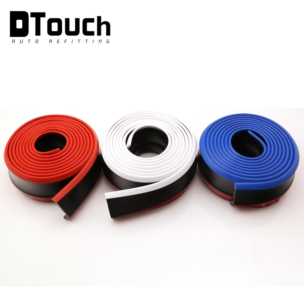 Wholesale Car Exterior 48mm Width Rubber Front Bumper Lip Kit Splitter Body Spoiler Valve Chin bumper Strip