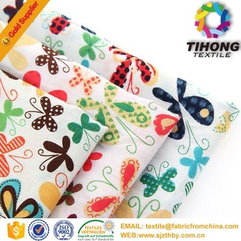 printed high yarn count high density poplin fabric
