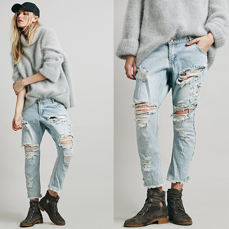 Girls Fancy Ripped Destroyed Fantasy Branded Jeans From Chinese Imports