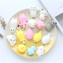 Super Soft Plastic Small animal Shape Vinyl Toy Custom Made Kids Decoration Mini Plastic Toy for reducing pressure