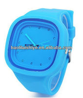 Alibaba Express 5 ATM Waterproof Colorful Silicone Jelly Watch