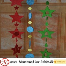 2016 Alibaba wholesale cute star shaped felt christmas tree ornament from china