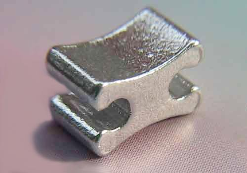Aluminum H-shaped top stopper for zipper garment accessorie