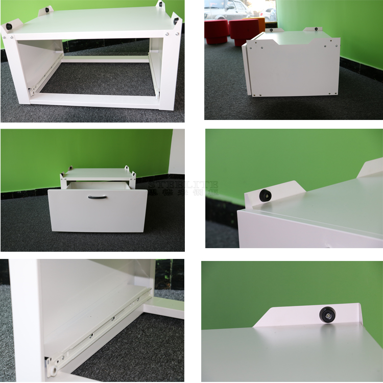 Cold rolled steel plate washing machine base cabinet with drawer