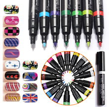 Bluezoo 16 colors nail art polish pen designs with perfect effect