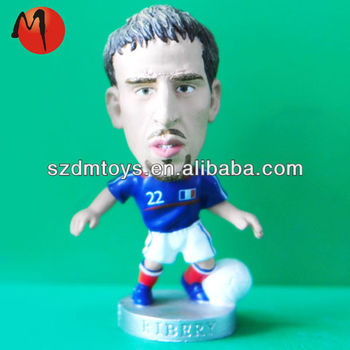 soccer ball custom player plastic toy figure