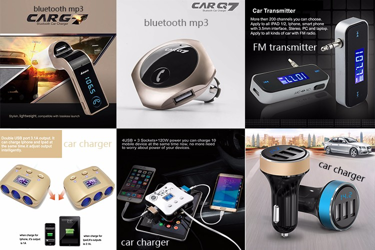 GXYKIT 2018 fast dual port usb car charger with car cigarette lighter socket