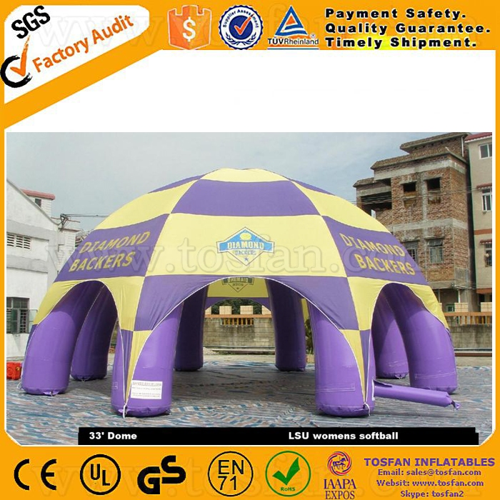 high quality inflatable arch tent,inflatable sealed dome tent F4010C
