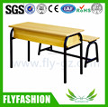 SF-26D Simple Wooden Detachable Combine Double Desk and Chair School Furniture Student Tables With Bench