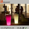 PE plastic 16 color changing lighted outdoor flower pots with remote