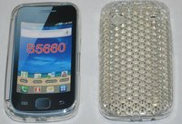 High Quality Soft Skin TPU Gel Case Cover Diamond Style for Samsung Galaxy Gio S5660