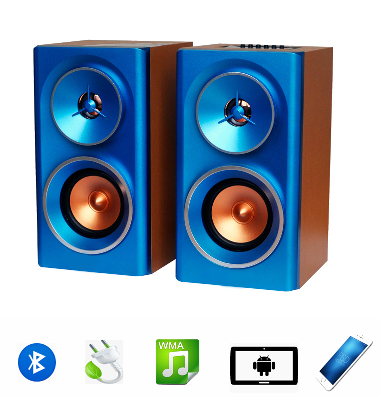 Portable made in China AC220V wooden Bocina USB TF card EQ Hi-Fiwireless bluetooth speaker