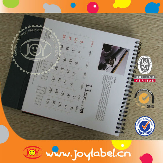 Customized design printing 2016 calendar