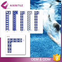 Mix Color Border Swimming Pool Tiles Glass Mosaic Sale