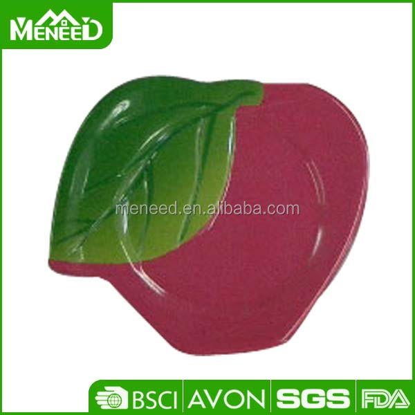 A5 melamine food safety unbreakable apple fruit shaped plates