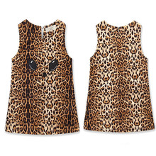 <strong>Girl's</strong> Cheetah Pattern <strong>Dress</strong> Vest <strong>Dress</strong>