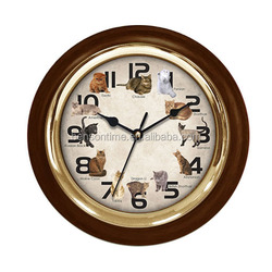 Cason musical clock funny sound wall clock