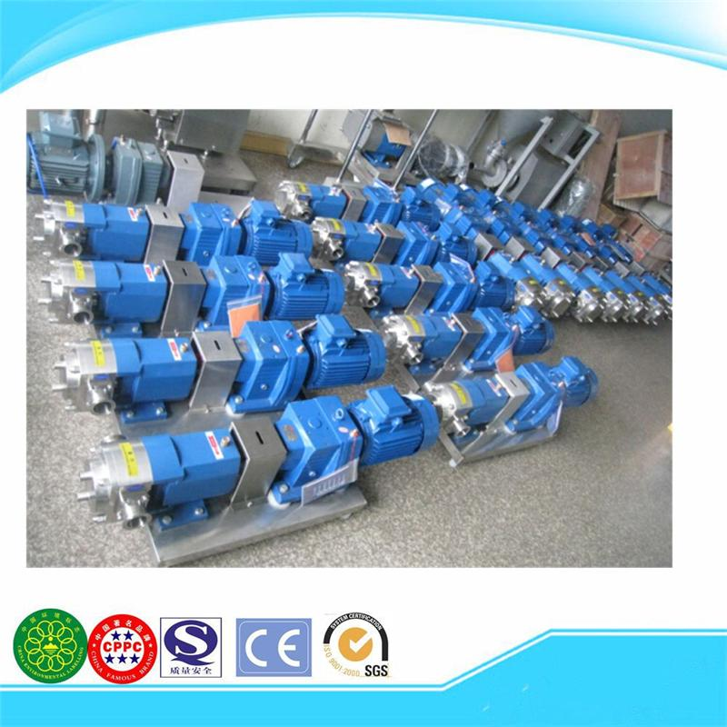 ISO9001 brand new rotary slurry food 3 lobe liquid pump
