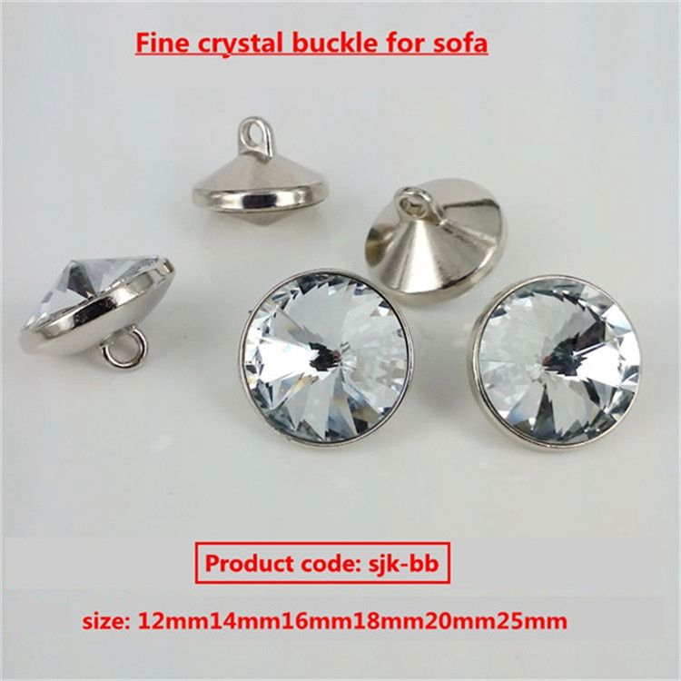 China button factory Favourable price crystal shank button for clothing