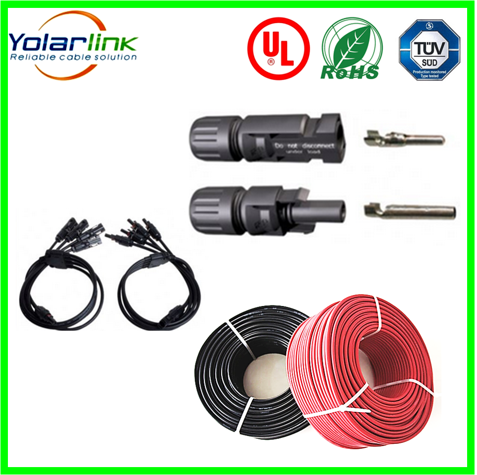 mc3 mc4 solar pv connector cable,4mm solar pv cable,TUV certificate solar power cable