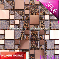 stainless steel mixed glass wallpaper mosaic tile