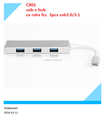 Competitive qualified computer accessory alloy multi ports usb type c hub with rohs