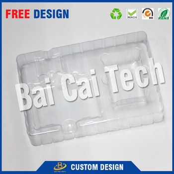 PET transparent plastic packaging blister tray for vial glass
