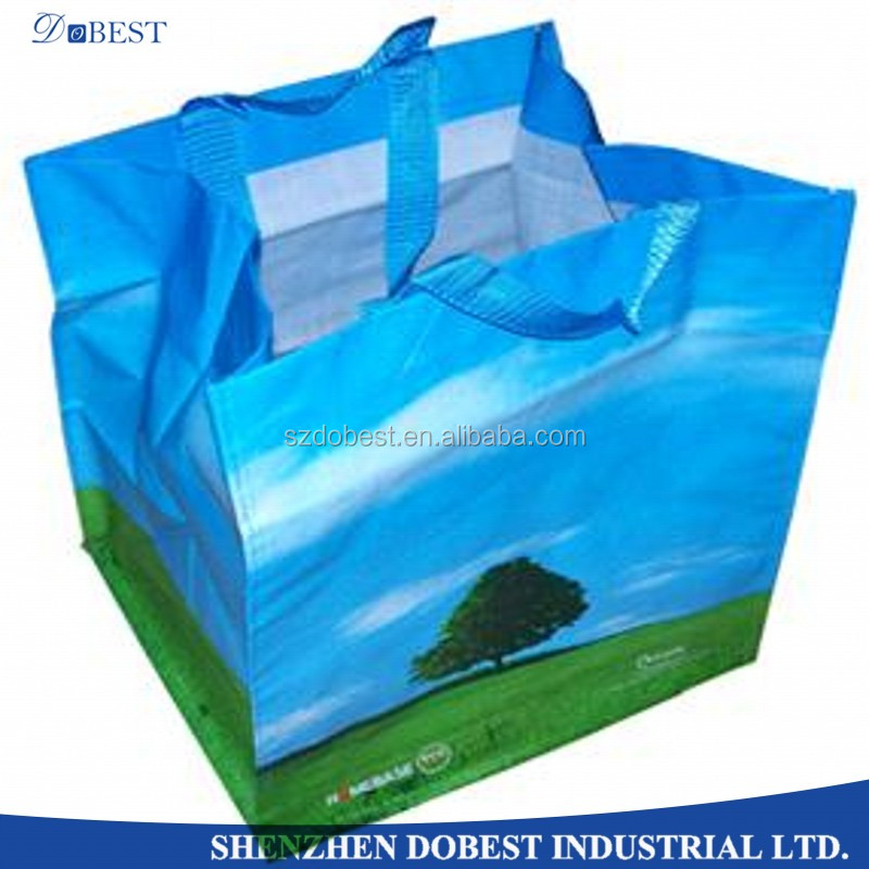 China manufacturer durable pp woven shopping tote bag