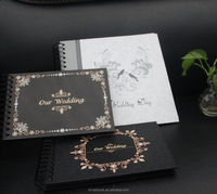 Customized black sheet European photo albums, handmaking albums