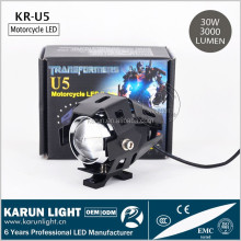 Factory Price U5 125w 3000lm motorcycle 12v moto led fog lights