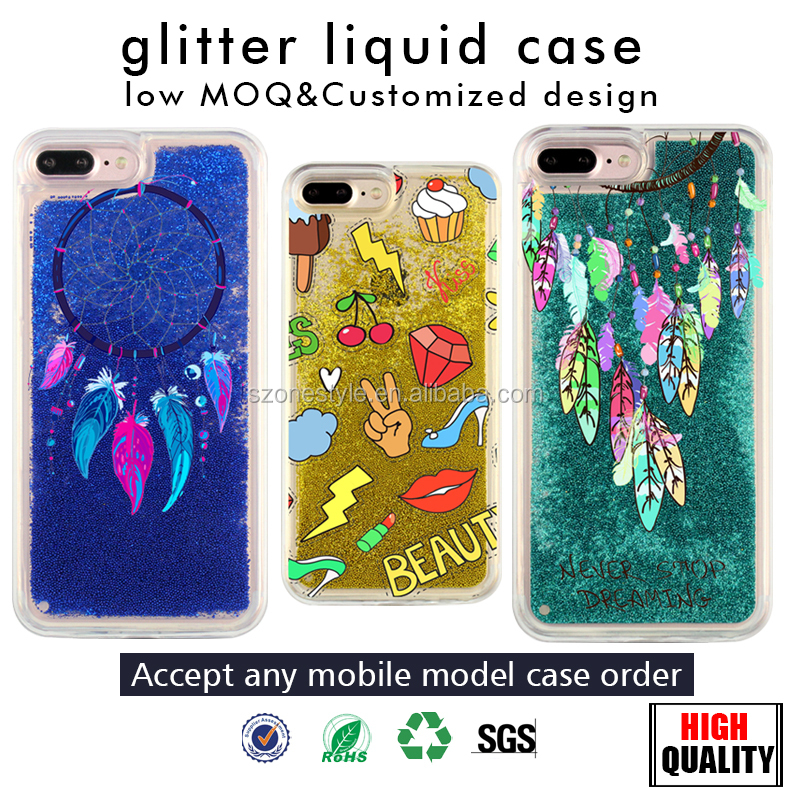 Newest Unique Bling bling liquid glitter phone case for iphone 7 case soft tpu case for apple iphone 6 7 plus for samsung galaxy