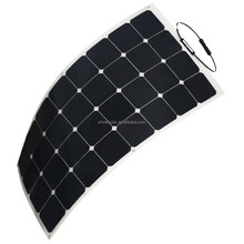 Semi flexible 100 Watt Solar Panel 12V High Efficiency Class-A Sunpower Solar Cell 100W; Monocrystalline Solar Panels