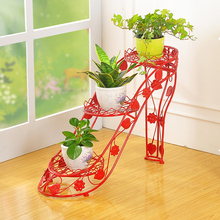 Shoe Flower Pot Stands Yard Decorative Plant Metal Wedding Garden Ornaments