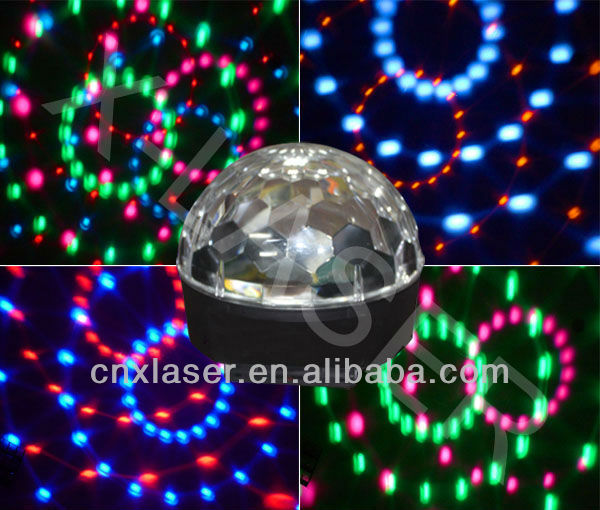 New Six color LED Crystal Magical Ball Light, LED Effect Light, Auto,voice-contrl