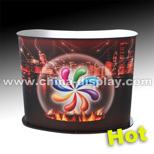 Hot sale exhibition display table banner promotion counter for advertising