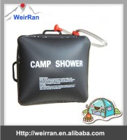 (74666) easy operated 20L black solar heated portable camping outdoor camping shower