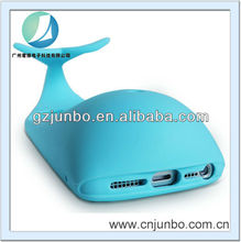 mobile phone whale case for iphone 5G Qualified silicone odorlessness