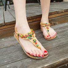 Small MOQ New model thong sandals custom pu Flat T-Strap chappal design