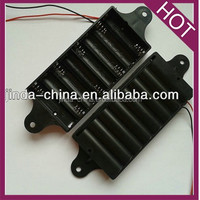 8 AA battery holder with mounting holes
