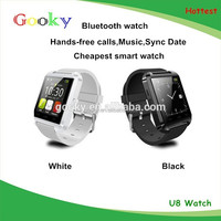 Bluetooth Smartwatch U8 Smart Watch for iPhone 6/puls/5S Samsung S4/Note 3 HTC Android Phone Smartphones Android Wear
