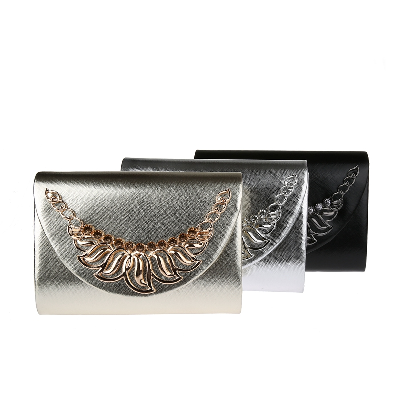 Top Quality Leather Envelope Clutch Purse PU Handbag Party Clutch Purse - Made in China
