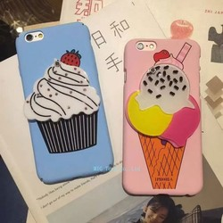 Fashion Mobile Ice Cream shape PC Hard Case For iPhone 5/6s/6 Plus Phone Covers
