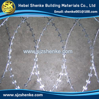galvanized or stainless steel razor barb wire for sale