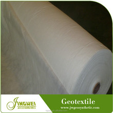 White puncture resistant reinforced geotextile non woven fabric