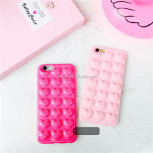 Fashion TPU 3D Love Heart pattern Back Cover case for iPhone 6 6s 6s Plus