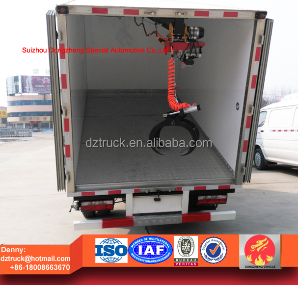 small medical waste disposal truck, multi-function refrigerator van truck