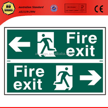 Safety warning emergency exit sign board