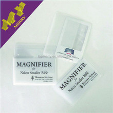 Advertising crafts custom cheap portable pvc magnifier